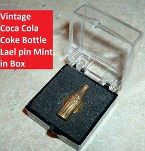 Vintage Coca Cola Soda Pop Old Coke Lapel Pin Mint in Box Coke Advertising
