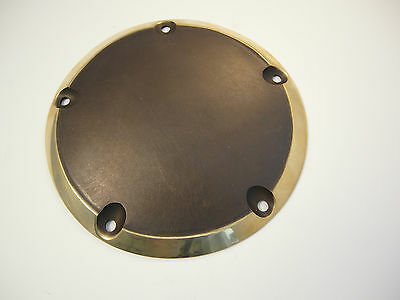 Harley Derby Cover  W/O Logo Brass will fit 00-15 TC