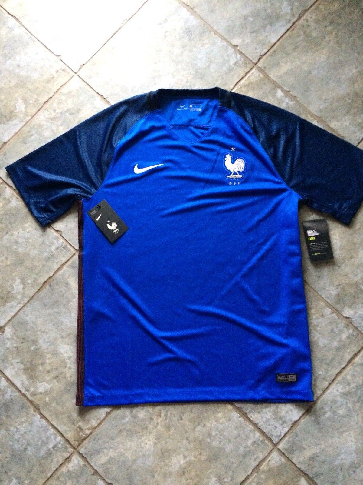 NIKE FRANKREICH FRANCE 2016 NATIONAL Fussballtrikot L NEU