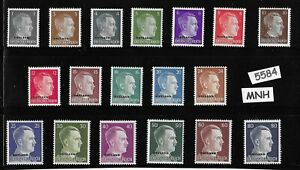 MNH-Complete-stamp-set-Ostland-Overprints-Adolph-Hitler-WWII-Occupation
