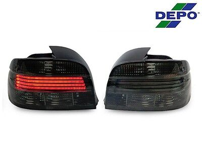DEPO 2001-03 BMW E39 5 Series All Smoke Lightbar LED Replacement Tail Lights New