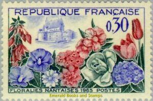 EBS-France-1963-Flower-Exhibition-Nantes-Floralies-Nantaises-MNH-YT1369