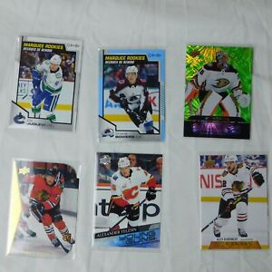 6 Card Lot 2020-21 Upper Deck Series 2 Marquee Rookie Young Guns Lot RC Dazzlers