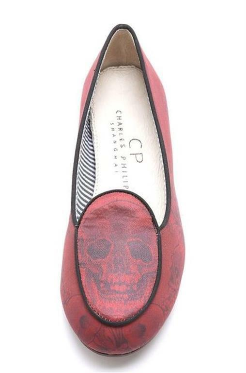 195$ Charles Philip Size Olimpia Skull Loafers Size Philip US7, UK5, EU37.5 New in Box 09be97