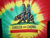 Cheech And Chong Funny Movie California Flag Bear Tie Dye T Shirt Mens S-3xl