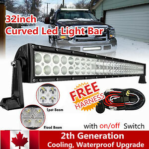 32Inch-180w-Curved-Led-Work-Light-Bar-Offroad-Lighting-Ford-SUV-ATV-Truck-4WD-30