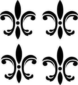 Image Is Loading 4 Fleur De Lis Wall Stickers Vinyl Decal