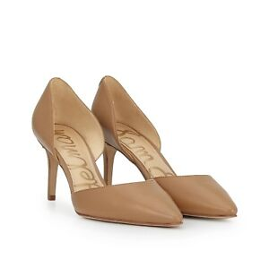 0ec6a254ae Sam Edelman TELSA D'Orsay Leather Point Toe Pump Shoe Caramel 13 New ...