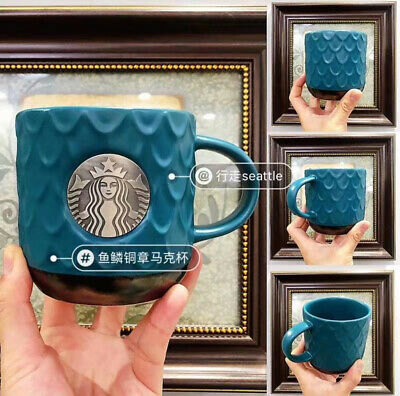 2020 NEW Starbucks Fish tail Coffee mugs 473ml Gifts Limited Edition China Style