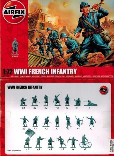 Airfix 01728 A01728 WWI French Infantry WK1 französische Soldaten 1:72