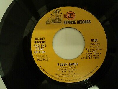 Kenny Rogers First Edition Reuben James Sunshine 1969 Country Rock 7 Ebay