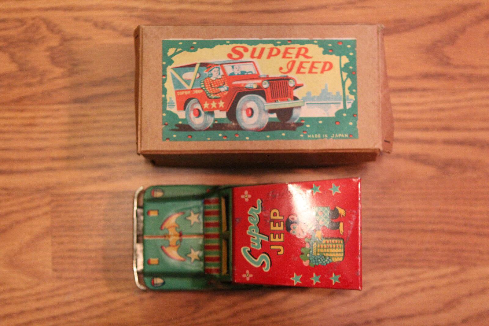 Vintage Super Jeep Toy Toy Toy Japan f7a3af