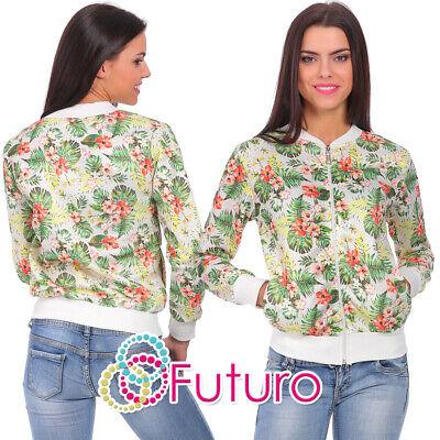 Schnelle Lieferung Womens Sweatshirt With Pockets Tracksuit Top Flower Pattern Sizes 8-14 Fz67 100% Hochwertige Materialien