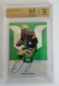 DALVIN COOK 9.5 GEM MINT 2017 ROOKIE AUTOGRAPH,  ONLY $229 WHAT A GREAT PRICE!