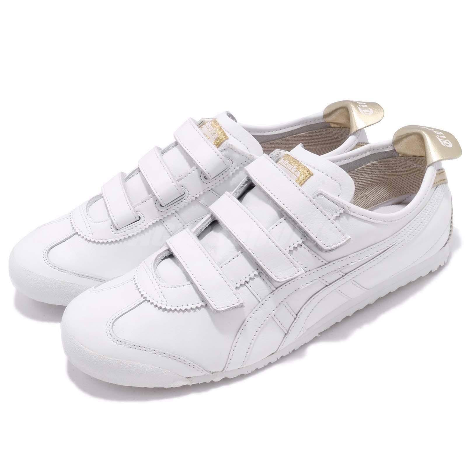 Asics Onitsuka Tiger Mexico 66 Baja Strap blanc or Men chaussures baskets HK4A1-0194