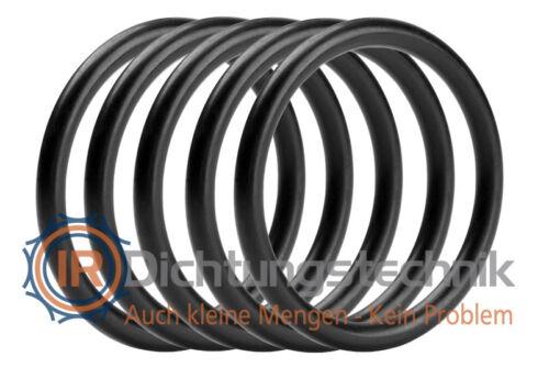 1. Stufe 5 St. O-Ring Nullring Rundring 18,0 x 6,0 mm NBR 70 Shore A schwarz