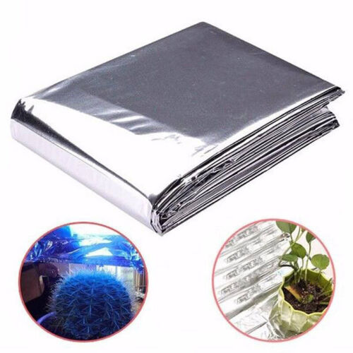 Reflective Mylar Film Plants Garden Greenhouse Covering Foil Sheets Silver N7