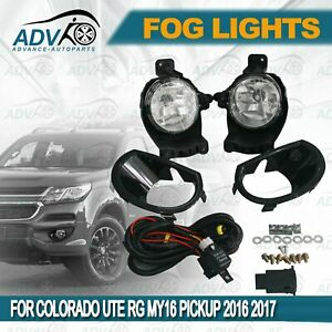 For-Holden-Colorado-2017-2019-Fog-Lights-Lamps-Complete-Kit-WITH-FREE-BULB