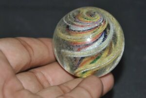 Vintage-Round-Ball-Shape-Spiral-Design-Colorful-Glass-Paper-Weight