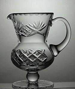 VINTAGE-EDINBURGH-CRYSTAL-CUT-GLASS-JUG-PITCHER-WITH-HANDLE-15-8-CM-TALL