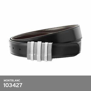 e19e104b8e7 Image is loading Montblanc-Contemporary-Men-039-s-Black-Brown-Reversible-