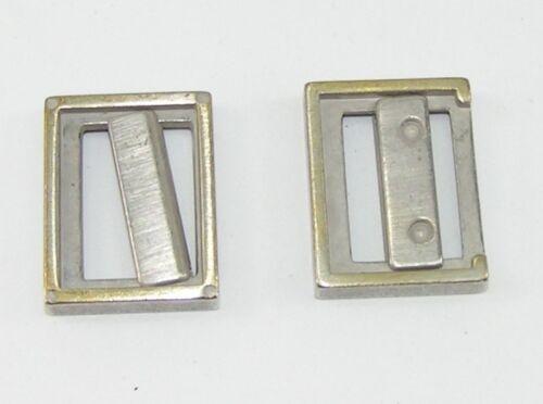 2 cinturón topes topes firmemente plato 22 mm plata//latón 03.60//717