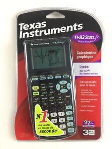 Calculatrice-Ti-82-Stats-fr-Neuf-Texas-Instruments-Graphique-Scientifique-Noir