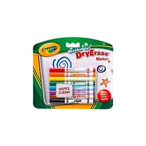Crayola-Washable-Markers-White-Board-Dry-Erase-Wipe-Felt-Tip-Pens-8-Pack