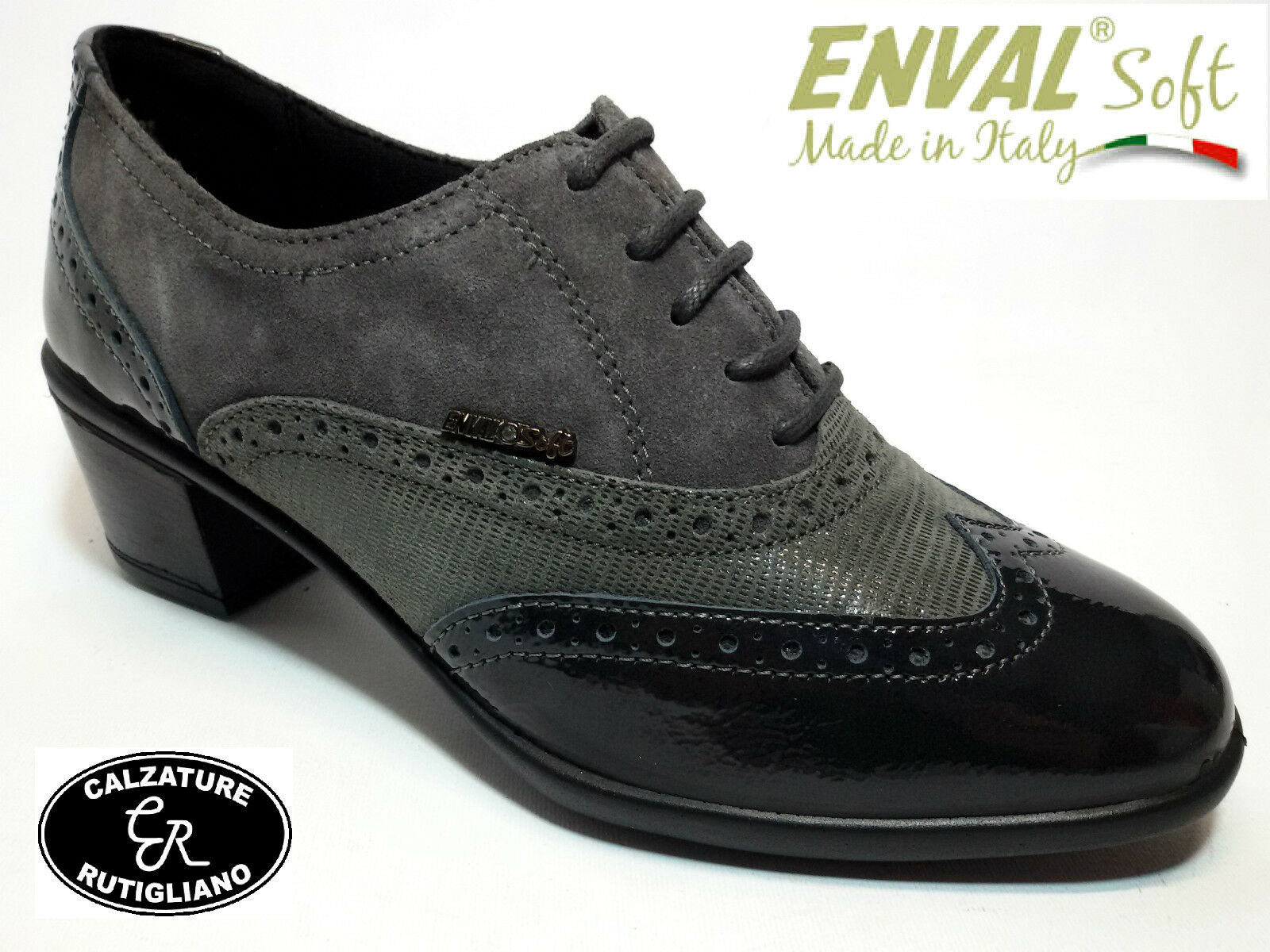 ENVAL SOFT 69163 chaussures femmes FRANCESINA gris LINEA COMODA MADE IN ITALY