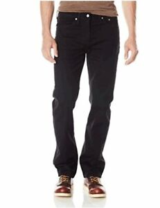 Essentials Men/'s Straight-Fit Stretch Jean Black Black, Size 42W x 30L