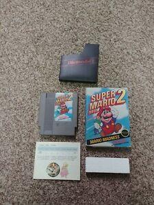 NES-Super-Mario-Bros-2-Black-Seal-Rare-Fair-Condition-Complete-1988