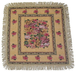 DaDa-Bedding-Rococo-Romantic-Fruit-amp-Roses-Floral-Tapestry-Table-Cloths-Placemat