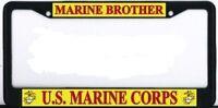 Us Marine Corps Brother Black Metal Frame