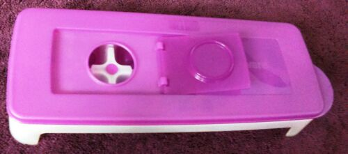 """COOL CUBES USEFUL purple pour-in seal /""""Silicone/"""" based Ice Tray Tupperware"""