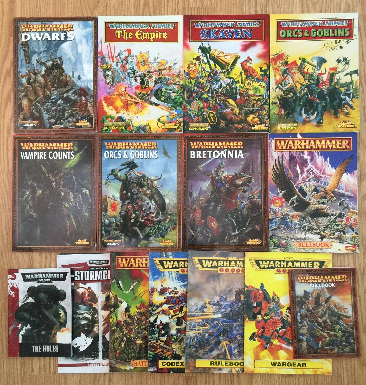 Lot de 15 Warhammer 40,000 livres de règles Codex Books  Games Workshop  derniers styles