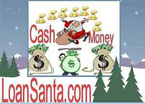 Loan Santa .com Domain name Cash  Paycheck Instant Wire Christmas Gift Card URL