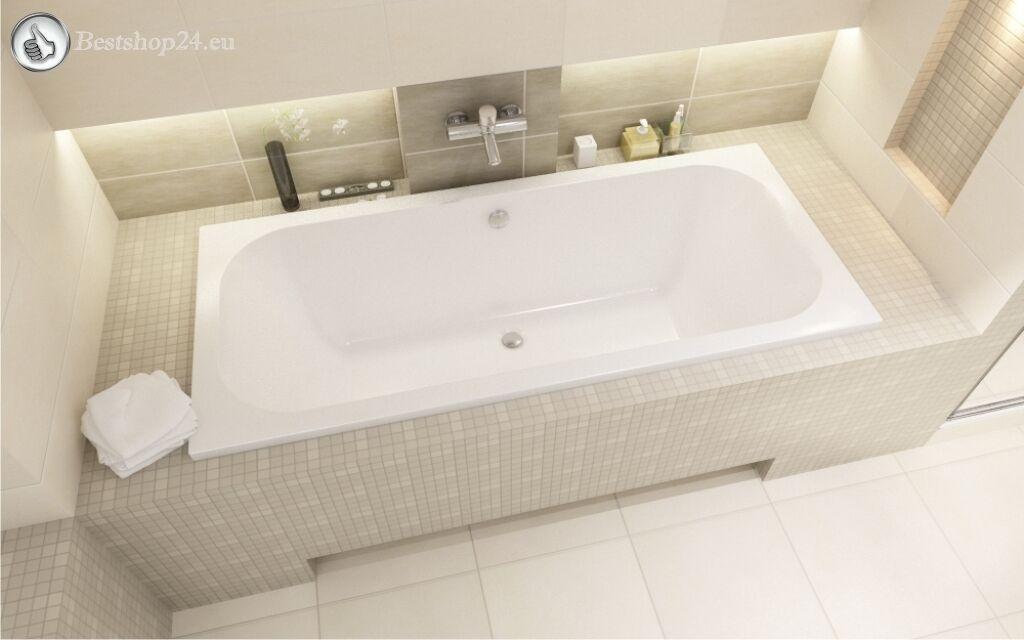 Badewanne Sanplast WP ER 180 x 80 cm Rechts Seite + Wannenträger