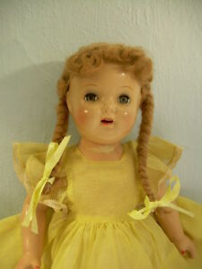 Sweet-DOLL-organdy-dress-antique-vintage-composition-SHIRLEY-TEMPLE-Ana-McGuffey