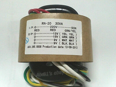 AC 220V 30W High Quality Audio R-Core Transformer 15V+15V 9V+9V For Preamp