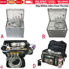 Dental Portable Mobile Delivery Unit Compressor Suction System Case Bag Syringe