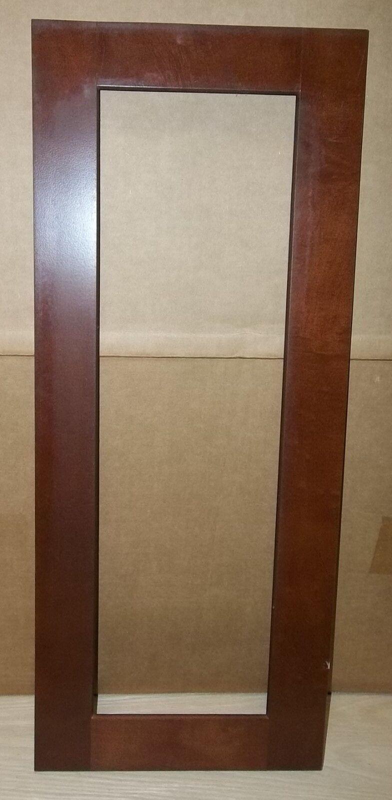 2 FRAME CABINET DOORS PAINT GRADE MAPLE OPEN SHAKER FRAME 11 3 4 X 28 3 4