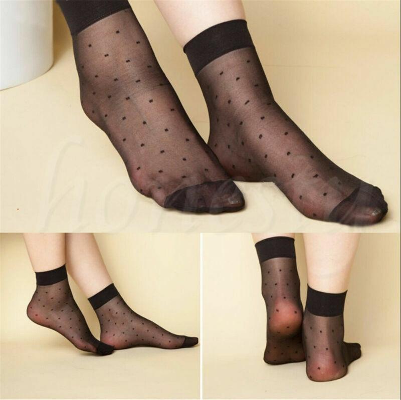 5Paar ultradünne elastische kurze Strümpfe mode Damen-Knöchelsocken gepunktet