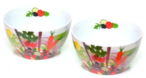 PPD porcelaine coques 2er-set Bol à céréales salade de fruits Salade Bol Dessert Bol