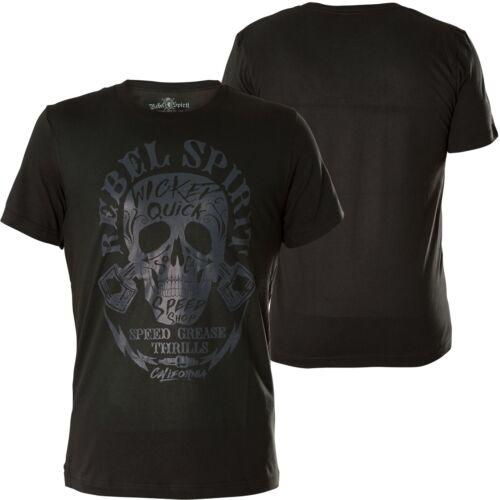 Rebel Spirit T-shirt RSSK 182030 Vintage Black Noir T-shirts