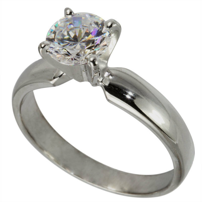4 Prong Solitaire Engagement Ring SETTING For 3 4 Ct Solitaire Round Stone 14Kt