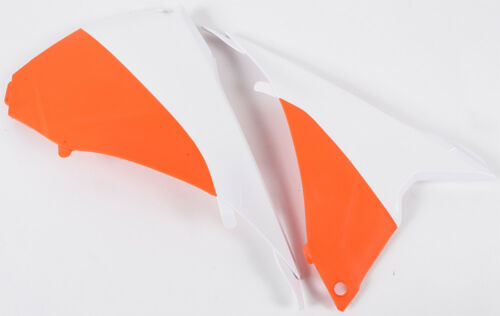 ACERBIS AIRBOX COVER EXC /'14-16 WHITE// ORANGE 2374121088 MC FOR KTM