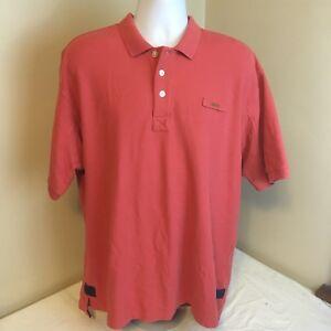 07c1514aa3f Orvis Mens Signature Polo Shirt 100% Cotton Salmon Pink Short Sleeve ...