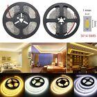 5m 3014 300/600 LED SMD Cool/Warm White Flexible Strip Light Lamp DC 12V