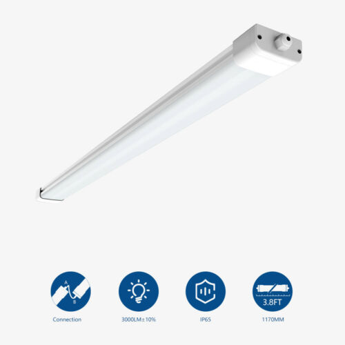 LED Feuchtraumleuchte Set Röhre Wannenleuchte Deckenlampe Keller 60//120//150cm