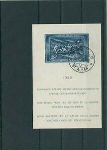 Suisse-Suisse-Vintage-1945-Mi-Bloc-11-Timbres-Used-Plus-Sh-Boutique